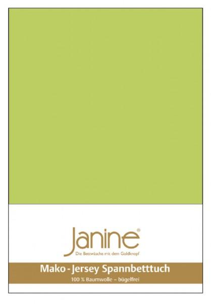 Janine Spannbetttuch Mako-Feinjersey 5007 apfelgrün Größe:  100×200 cm