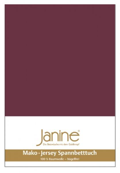 Janine Spannbetttuch Mako-Feinjersey 5007 burgund Größe:  100×200 cm