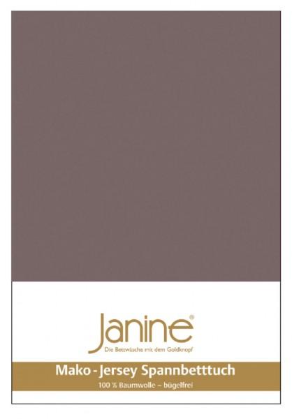 Janine Spannbetttuch Mako-Feinjersey 5007 cappuccino Größe:  100×200 cm
