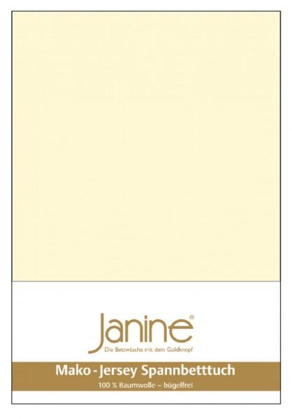 Janine Spannbetttuch Mako-Feinjersey 5007 champanger Größe:  100×200 cm
