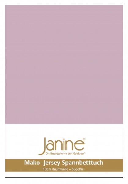 Janine Spannbetttuch Mako-Feinjersey 5007 altrosé Größe:  100×200 cm