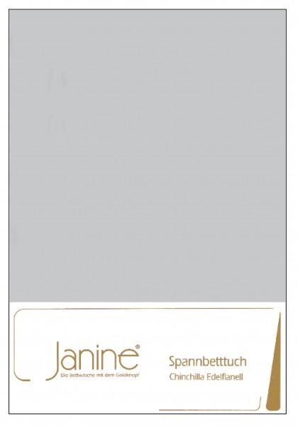 Janine Betttücher CHINCHILLA 7000 silber  Größe: 100x200 cm (Spannbetttuch)