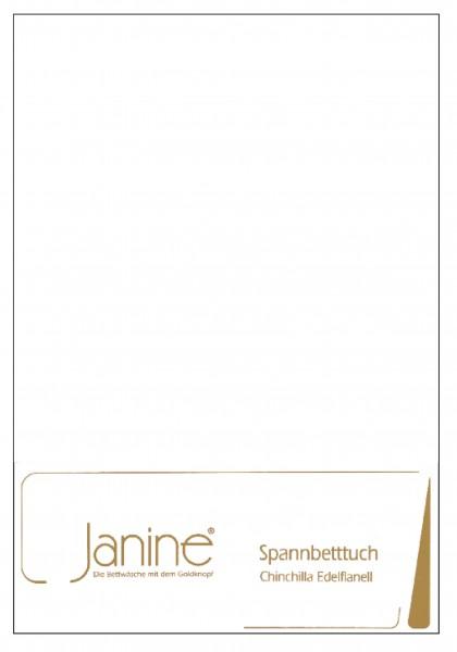 Janine Betttücher CHINCHILLA 7000 weiß  Größe: 100x200 cm (Spannbetttuch)
